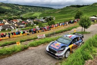 Sebastien Ogier (FRA) seen during the FIA World Rally Championship 2017 in Bostalsee, Germany on August 18, 2017