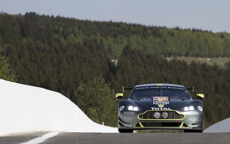 Aston Martin Racing Pro WEC car racing on track