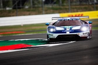 Aston Martin Racing fought at the front with Ford Chip Granssi Team UK in the second practice session of the WEC 6 Hours of Silverstone