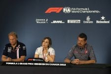 Robert Fernley, Claire Williams & Guenther Steiner - Sahara Force India F1 Team, Williams Martini Racing & Haas F1 Team - Montreal