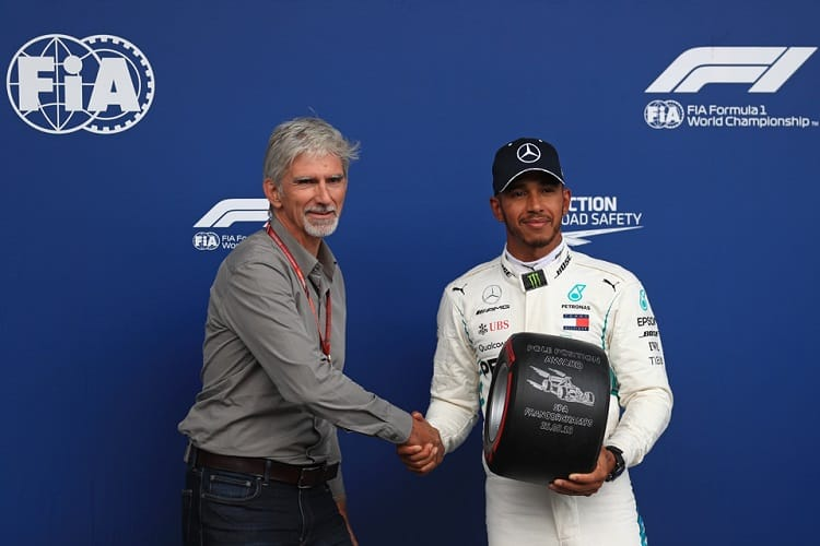 Damon Hill & Lewis Hamilton - Spa-Francorchamps