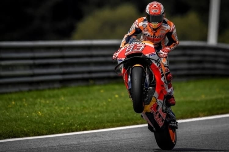 Marc Marquez at the Red Bull Ring, Austria, 2018