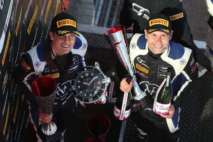 Flick Haigh & Jonny Adam; Optimum Motorsport Brands Hatch GP Podium