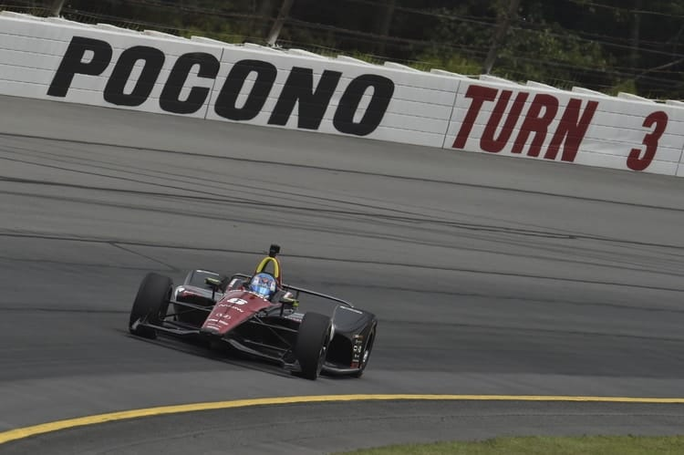 Indycar driver airlifted to hospital following Pocono crash