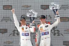 #54 CORE autosport ORECA LMP2, P: Jon Bennett, Colin Braun, podium