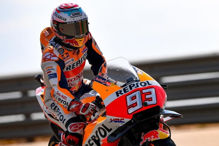 Marquez Raises the Bar in Second Practice - The Checkered Flag b79ca45529e