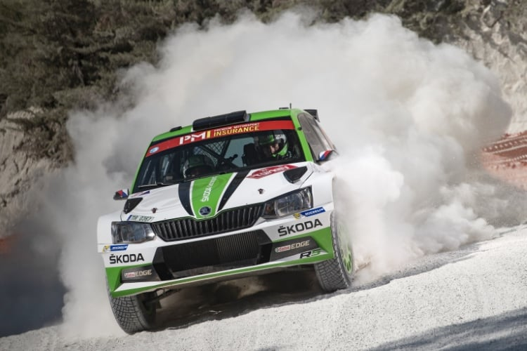 Jan Kopecky (CZE) performs during FIA World Rally Championship 2018 in Marmaris, Turkey on September 16, 2018