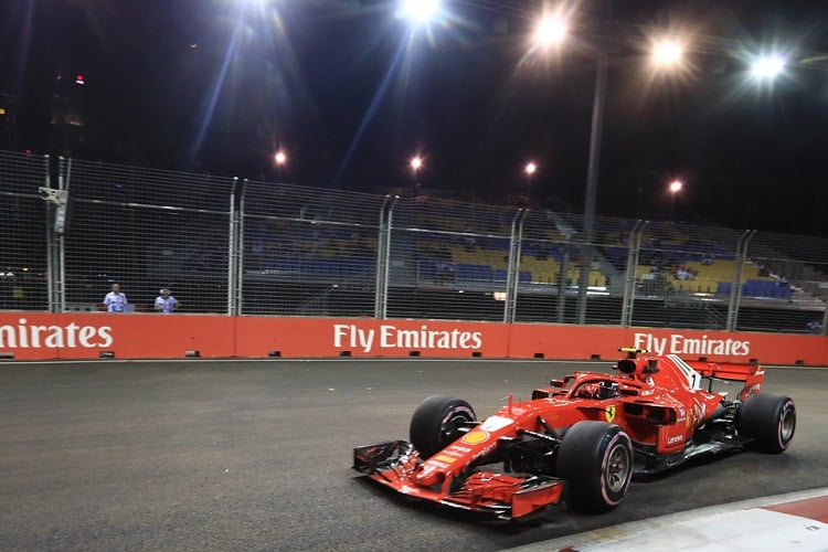Kimi Räikkönen - Scuderia Ferrari - Marina Bay Street Circuit