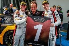 Michael Meadows (left) and Raffaele Marciello (right) celebrate - AKKA ASP Team - Nurburgring