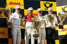 Rene Rast, Paul Di Resta, Marco Wittmann- 2018 DTM Series Podium, Nurburgring Race 2