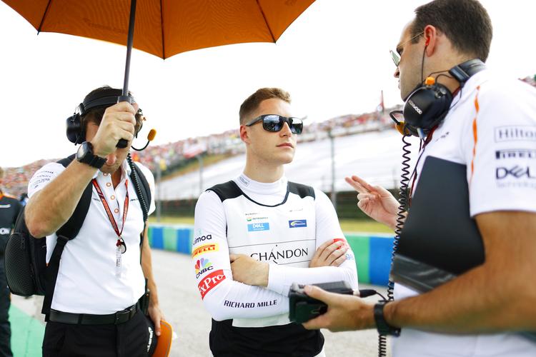 Hungaroring, Budapest, Hungary. Sunday 29 July 2018. Stoffel Vandoorne, McLaren, on the grid.