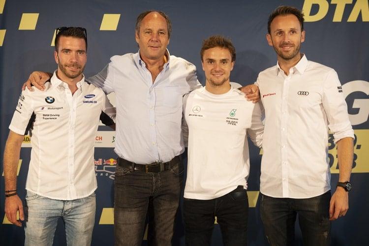 Philipp Eng, Gerhard Berger, Lucas Auer and René Rast:2018 DTM Series - Red Bull Ring