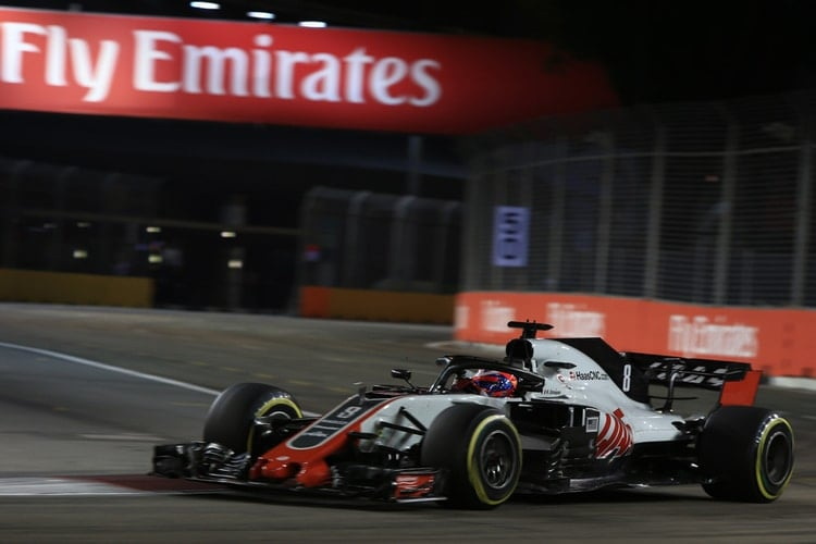 Romain Grosjean - Formula 1 - 2018 Singapore GP