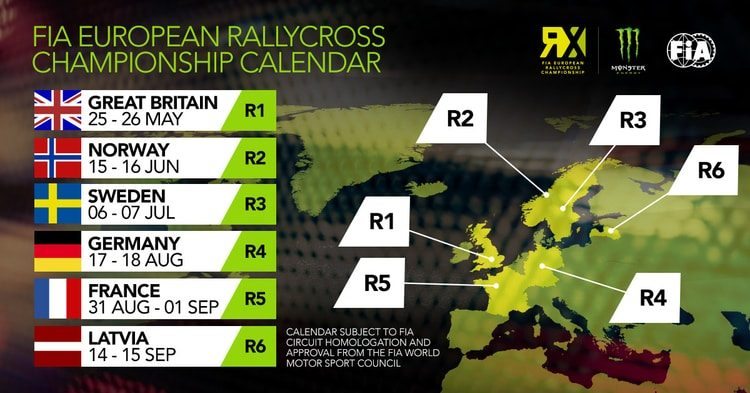 2019 Fia European Rallycross Championship Calendars