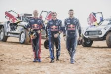 Stephane Peterhansel, Carlos Sainz and Cyril Despres in Erfoud , Morocco 25 September 2018
