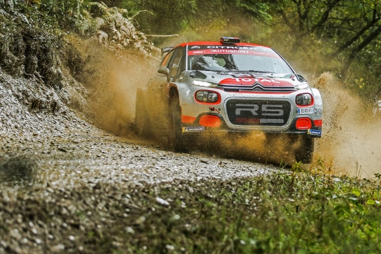 New Citroën C3 R5 competing at the 2018 Wales Rally GB