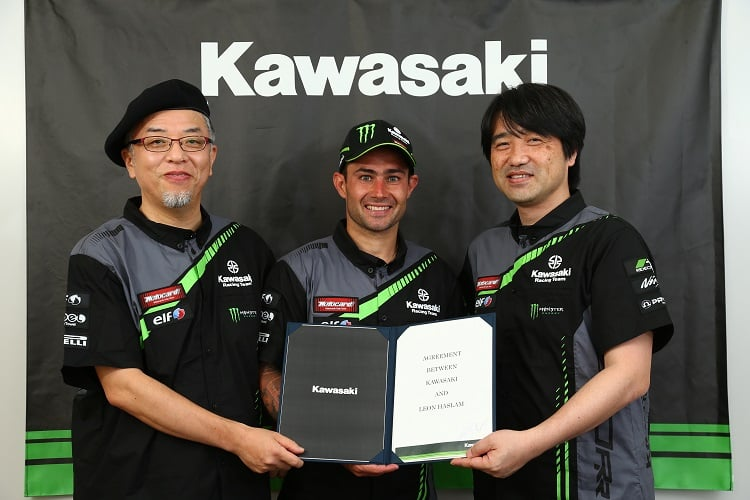 Haslam joins the Factory Kawasaki team