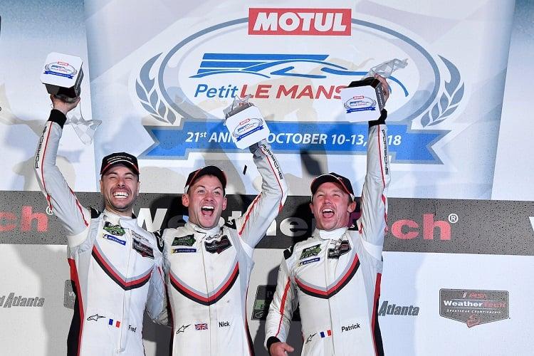 Frederic Makowiecki, Nick Tandy & Patrick Pilet - Porsche GT Team - Petit Le Mans