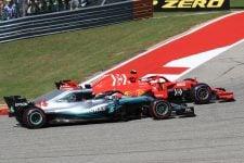 Kimi Raikkonen overtakes Lewis Hamilton - USGP 2018