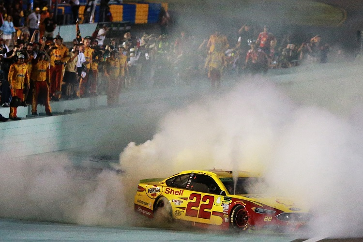 Joey Logano Triumphs In Ford Ecoboost 400 Wins First Cup