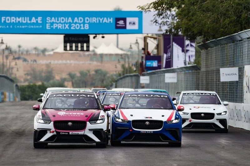 Jaguar I-Pace eTrophy Race Start