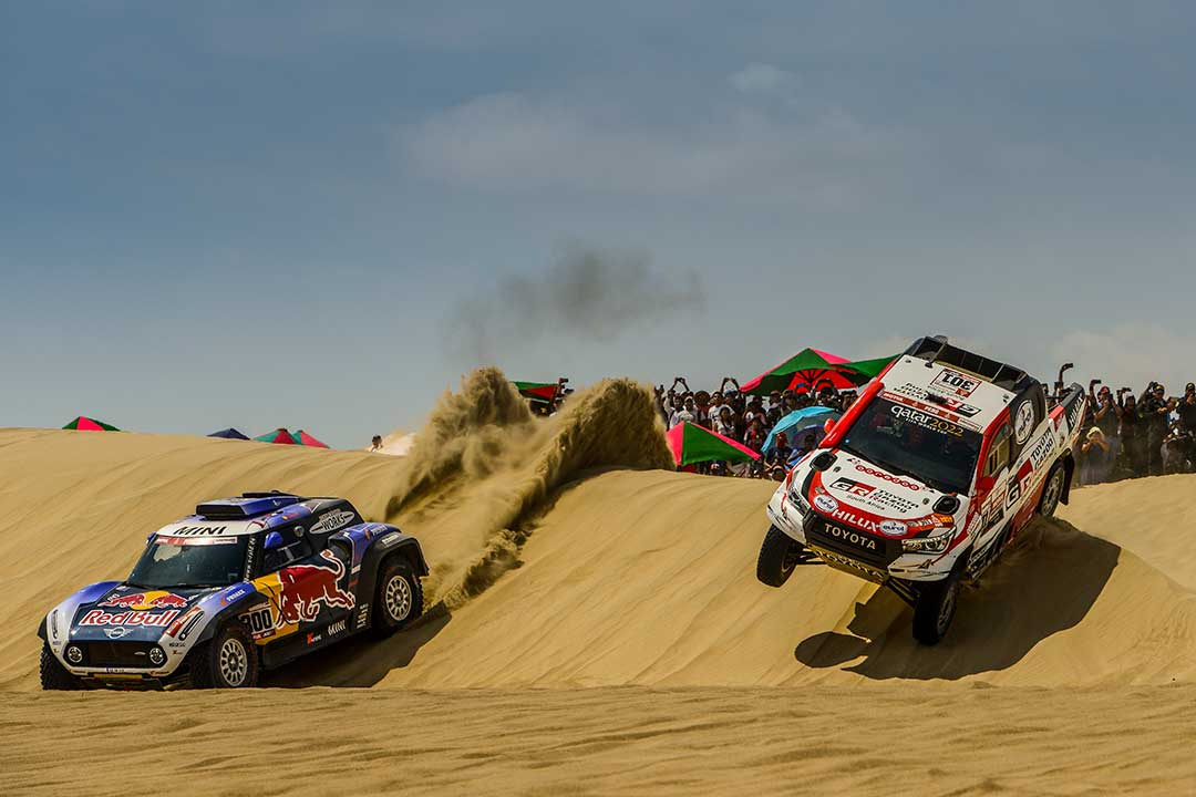 nasser al attiyah takes early lead of dakar 2019 the checkered flag. Black Bedroom Furniture Sets. Home Design Ideas