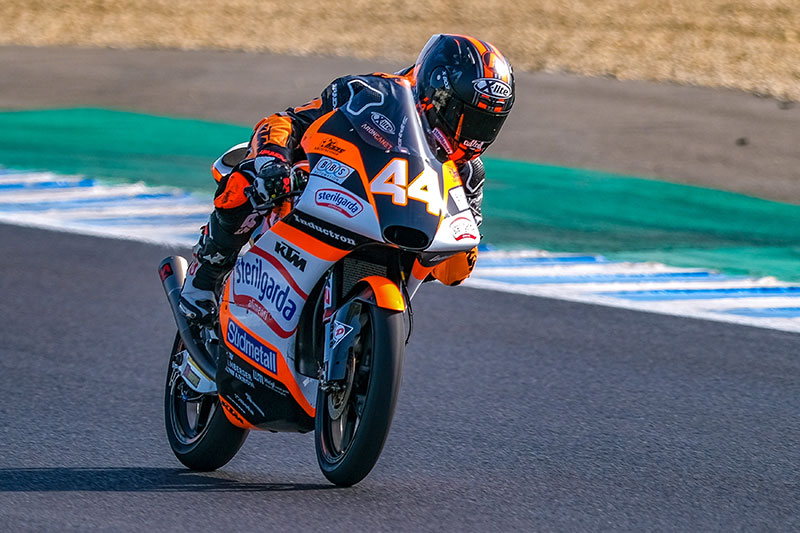 Aron Canet on top at Jerez Test