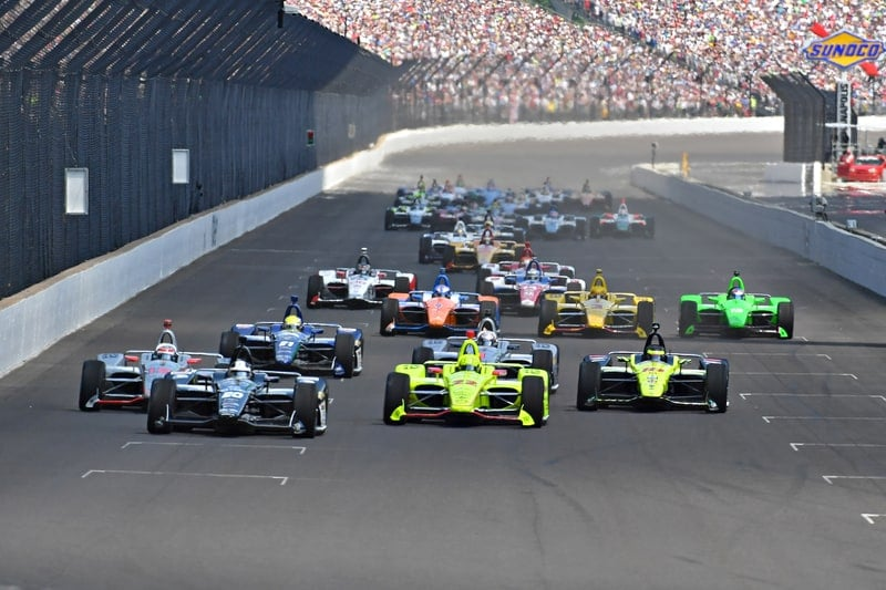 The start of the 2018 Verizon IndyCar Series Indianapolis 500