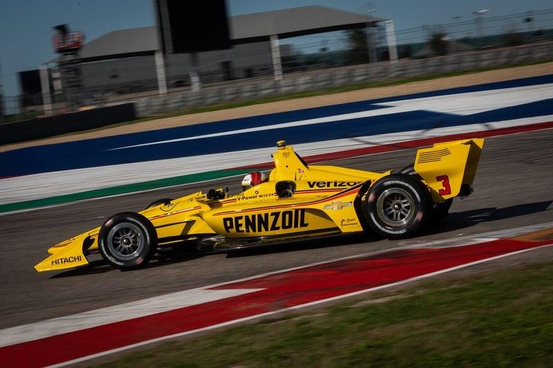 Helio Castroneves (BRA), Team Penske, 2019 NTT IndyCar Series, Circuit of the Americas test