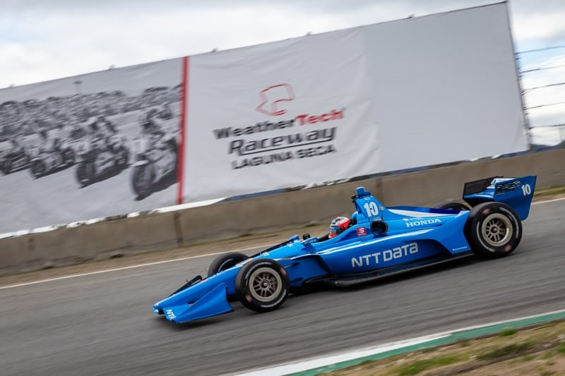 Felix Rosenqvist (SWE), Chip Ganassi Racing, 2019 NTT IndyCar Series, Laguna Seca