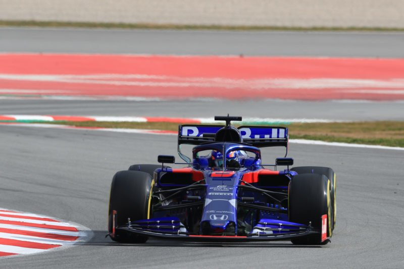 Alexander Albon - Red Bull Toro Rosso Honda at the Circuit de Barcelona-Catalunya during the second day of the first F1 2019 Pre-Season Test