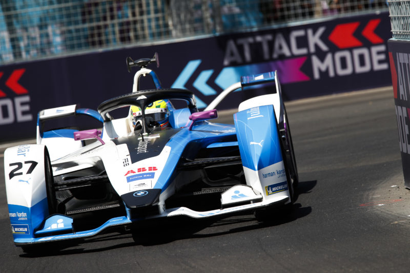 Alexander Sims - BMW iFE.18 at the 2019 Santiago E-Prix.
