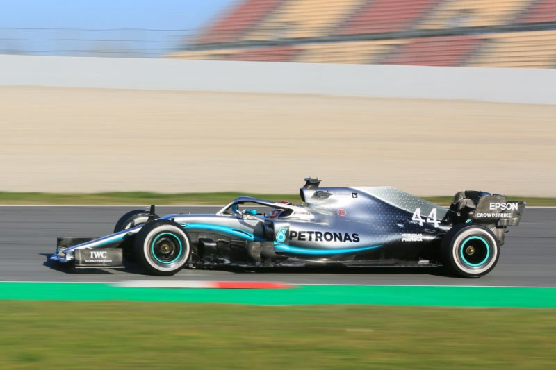 Lewis Hamilton - Mercedes W10 at the Circuit de Barcelona-Catalunya on the first day of F1 2019 Pre-Season Testing