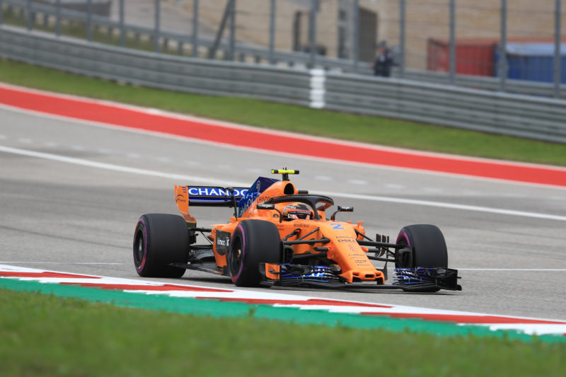 Stoffel Vandoorne - McLaren MCL33 - 2018 Formula 1 United States Grand Prix - Circuit of the Americas