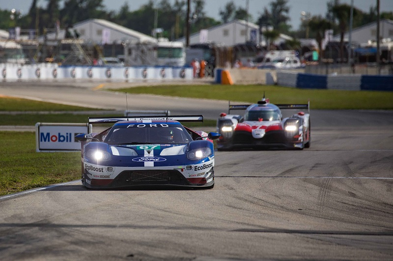 Ford stole Aston Martin's thunder by claiming the final fastest practice lap time of the 1,000 Miles of Sebring