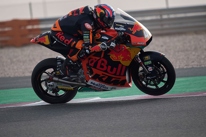 Brad Binder dominated the opening day of the Qatar Test