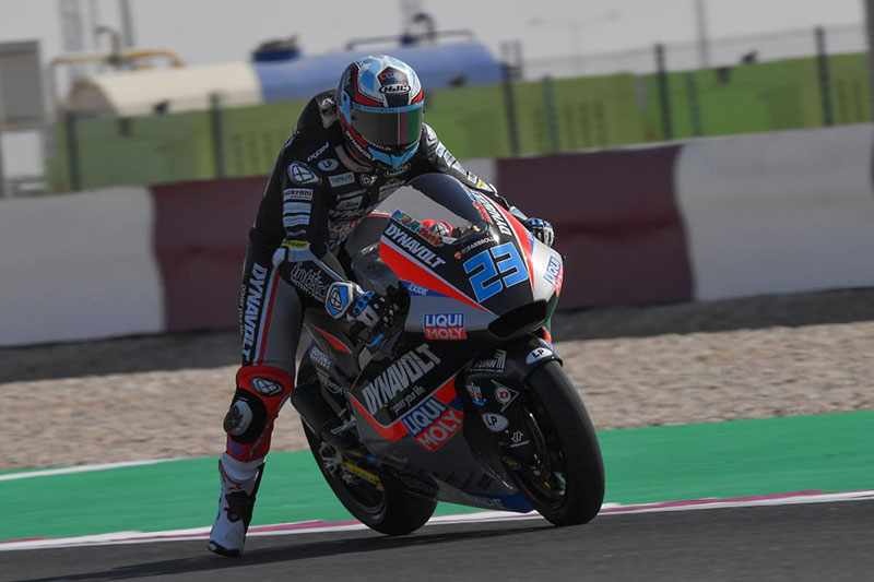 Marcel Schrotter on pole in Moto2