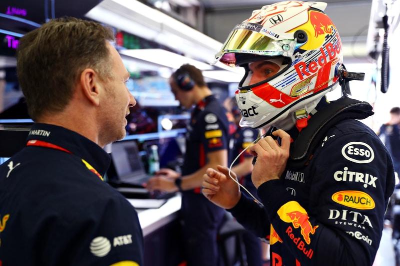 Max Verstappen and Christian Horner - Bahrain 2019