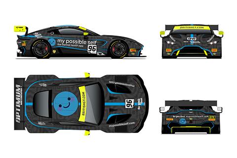 The 2019 Optimum Motorsport British GT title challenger in rendering.