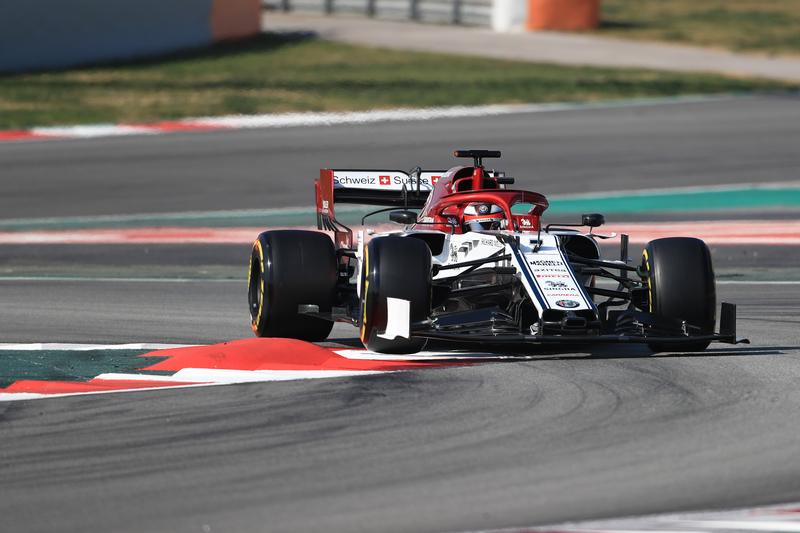 Formula 1 – Winter Testing - Test 2 - Day 4. Alfa Romeo F1 Team C38 – Kimi Raikkonen. Circuit de Barcelona-Catalunya. Friday 1st March 2019.