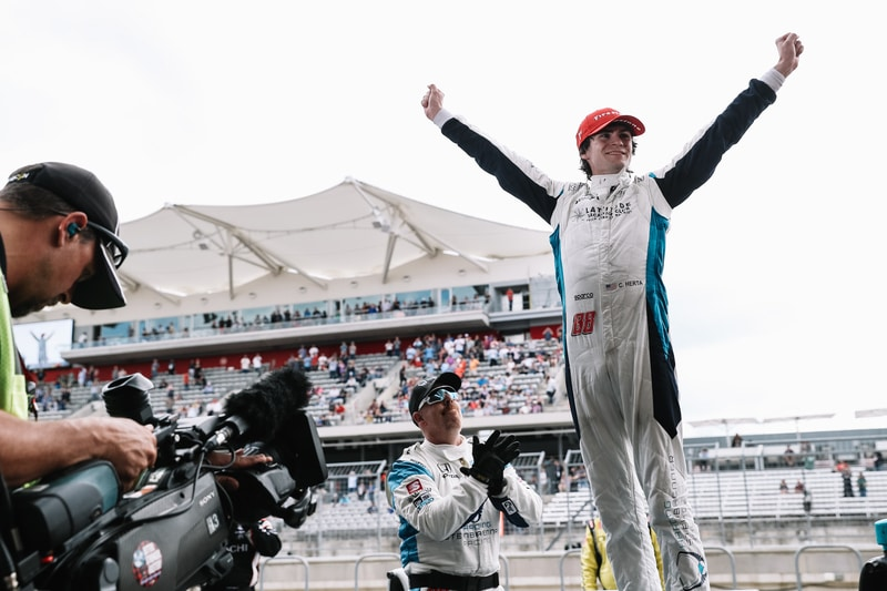 Colton Herta (USA), Harding Steinbrenner Racing, 2019 NTT IndyCar Series, Circuit of the Americas