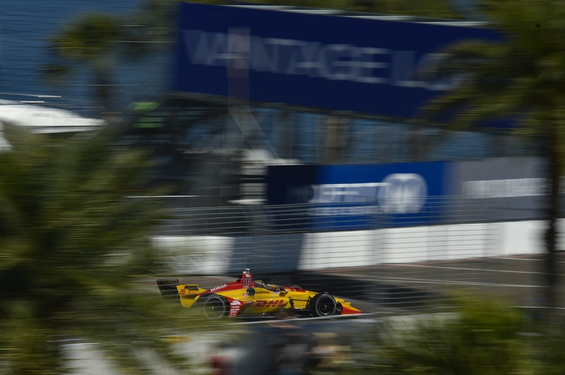 Ryan Hunter-Reay (USA), Andretti Autosport, 2019 NTT IndyCar Series, St. Petersburg Practice