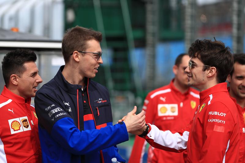 Daniil Kvyat - Red Bull Toro Rosso Honda & Charles Leclerc - Scuderia Ferrari Mission Winnow at the 2019 Formula 1 Australian Grand Prix - Albert Park.