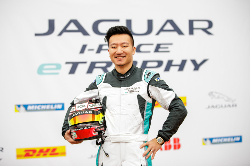 David Cheng at the 2019 Hong Kong Jaguar I-Pace eTrophy round.