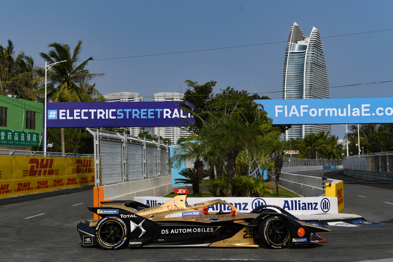 Jean-Eric Vergne - DS Techeetah at the 2019 Sanya E-Prix - Shakedown