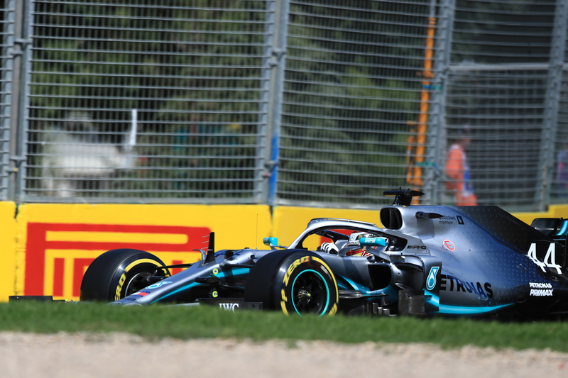 Lewis Hamilton - Mercedes AMG Petronas Motorsport at the 2019 Formula 1 Australian Grand Prix - Albert Park during Free Practice 1.