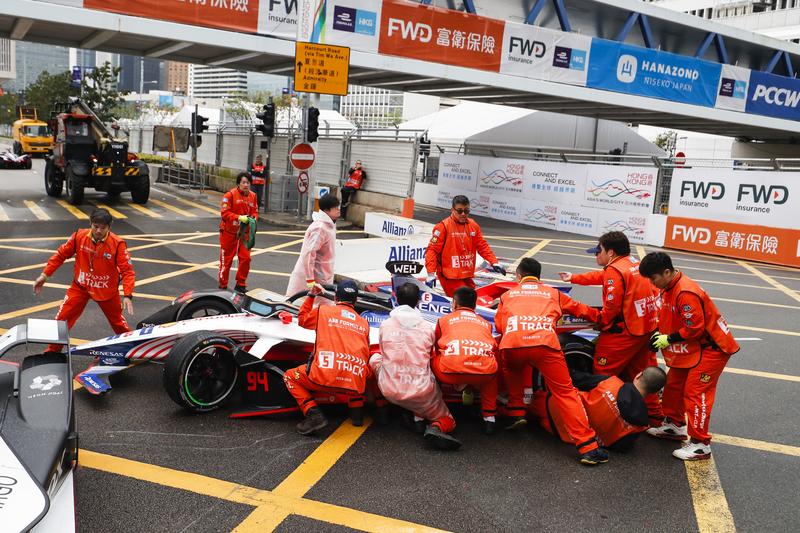 Pascal Wehrlein - Mahindra Racing at the 2019 Hong Kong E-Prix.
