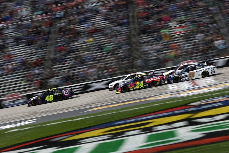 Jimmie Johnson (USA), William Byron (USA), Chase Elliott (USA), Hendrick Motorsports, 2019 Monster Energy NASCAR Cup Series, Texas Motor Speedway