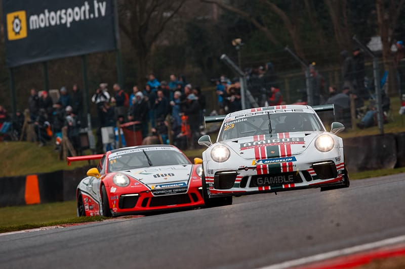 Lights to flag victory for Gamble as Plato holds off Harper at Brands Hatch
