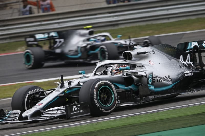 Lewis Hamilton and Valtteri Bottas - Chinese GP 2019